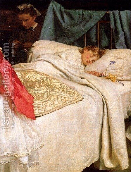 Sleeping by Sir John Everett Millais - Reproduction Oil Painting