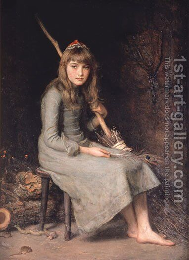 Cinderella by Sir John Everett Millais - Reproduction Oil Painting