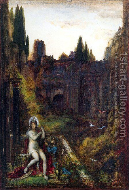 Bathsheba (or Bethsheba) by Gustave Moreau - Reproduction Oil Painting