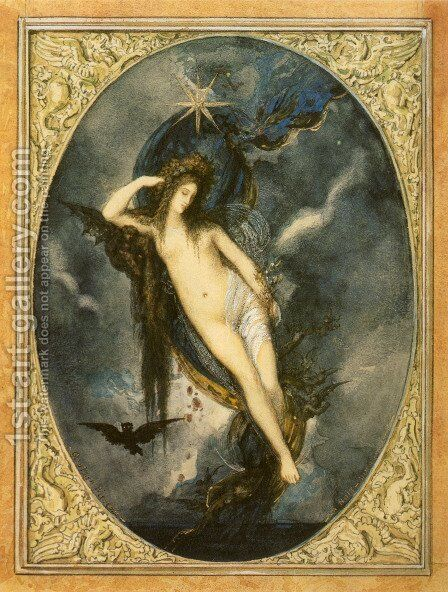 Night by Gustave Moreau - Reproduction Oil Painting