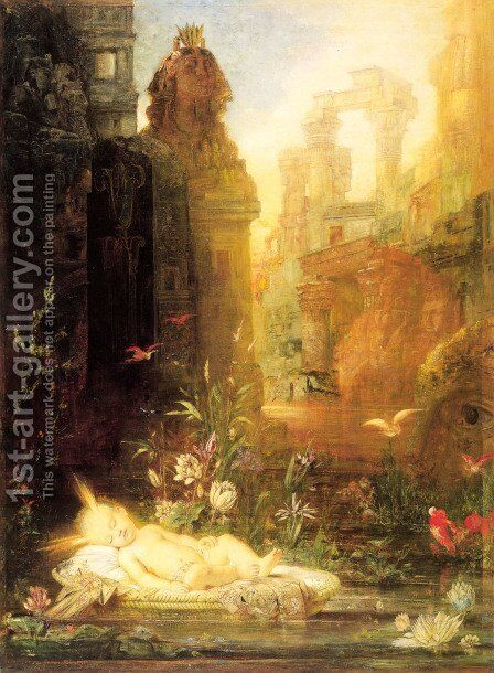 Young Moses by Gustave Moreau - Reproduction Oil Painting
