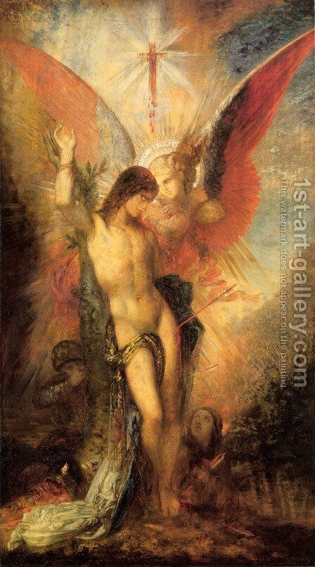Saint Sebastian and the Angel by Gustave Moreau - Reproduction Oil Painting