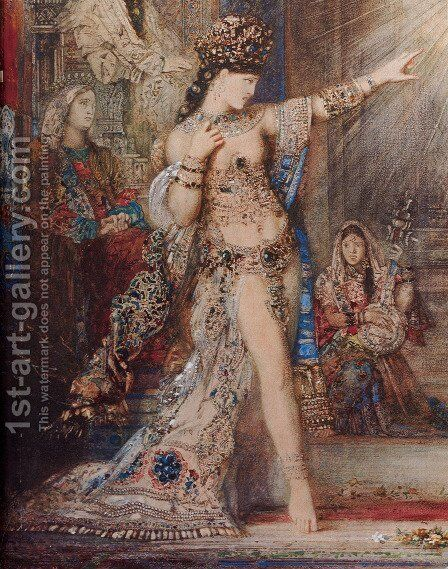 The Apparition [detail] by Gustave Moreau - Reproduction Oil Painting