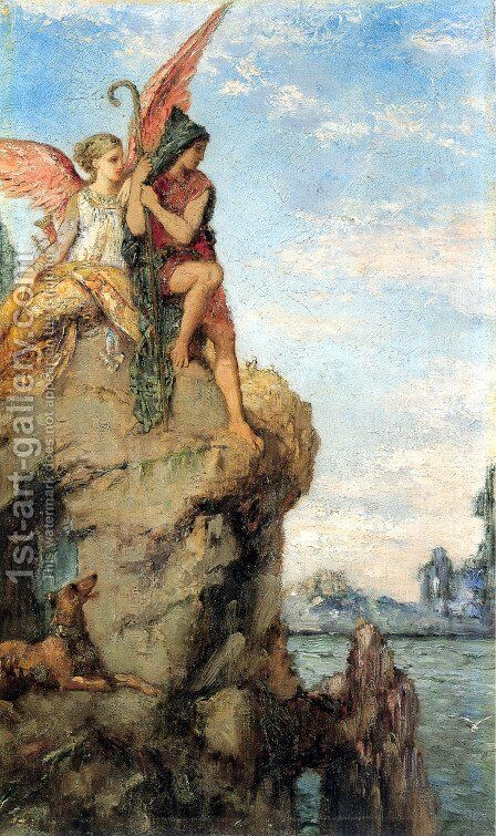 Hesiod and the Muse by Gustave Moreau - Reproduction Oil Painting