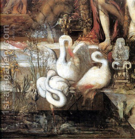 The Daughters of Thespius - detail by Gustave Moreau - Reproduction Oil Painting