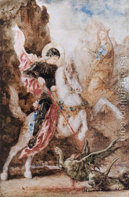 Saint Georges (St. George) by Gustave Moreau - Reproduction Oil Painting