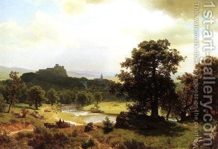 Day's Beginning by Albert Bierstadt - Reproduction Oil Painting
