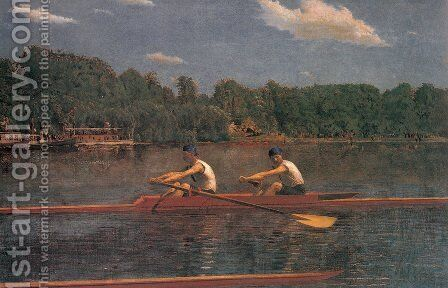 The Biglin Brothers Racing by Thomas Cowperthwait Eakins - Reproduction Oil Painting