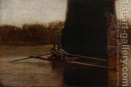 The Pair-Oared Scull by Thomas Cowperthwait Eakins - Reproduction Oil Painting