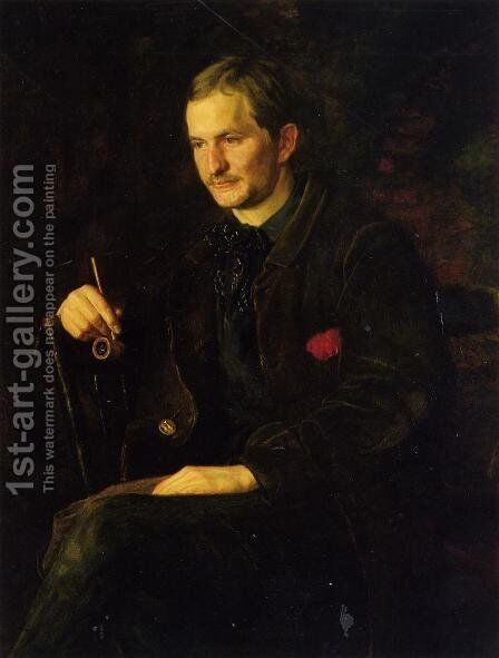 The Art Student (or Portrait of James Wright) by Thomas Cowperthwait Eakins - Reproduction Oil Painting