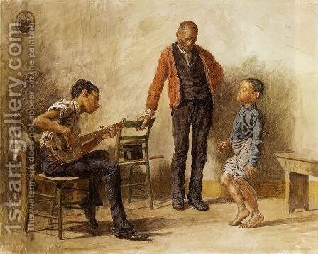 The Dancing Lesson by Thomas Cowperthwait Eakins - Reproduction Oil Painting