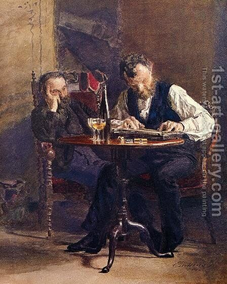 The Zither Player by Thomas Cowperthwait Eakins - Reproduction Oil Painting