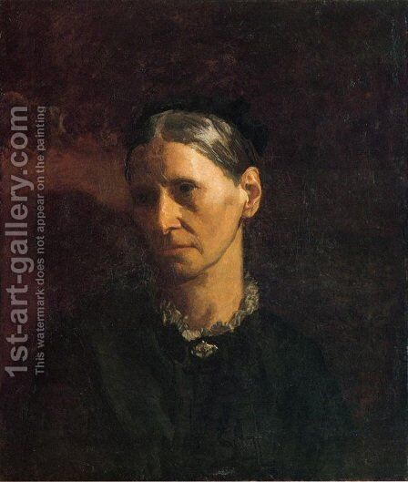 Portrait of Mrs. James W. Crowell by Thomas Cowperthwait Eakins - Reproduction Oil Painting