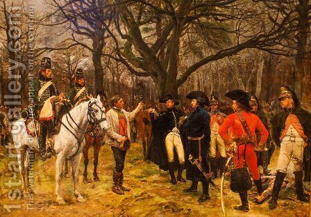 General Desaix and the Peasant by Jean-Louis-Ernest Meissonier - Reproduction Oil Painting