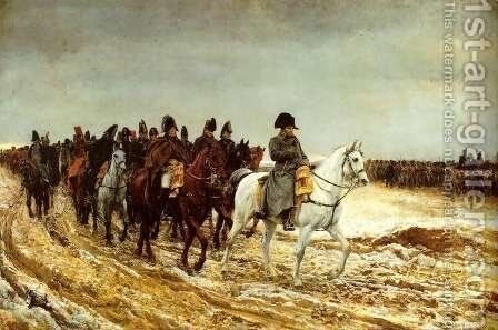 The French Campaign by Jean-Louis-Ernest Meissonier - Reproduction Oil Painting