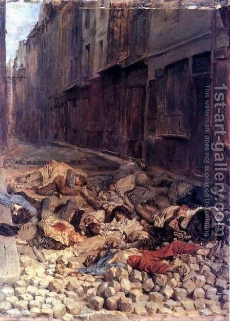 The Barricade by Jean-Louis-Ernest Meissonier - Reproduction Oil Painting