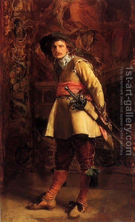 Musketeer by Jean-Louis-Ernest Meissonier - Reproduction Oil Painting