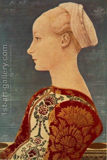 Portrait of a Young Woman by Domenico Veneziano - Reproduction Oil Painting
