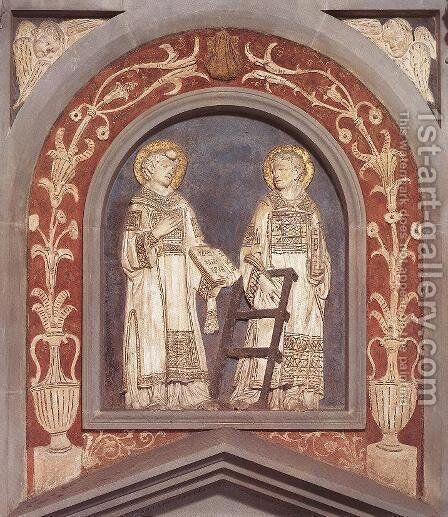 St Stephen and St Lawrence by Donatello (Donato di Niccolo) - Reproduction Oil Painting
