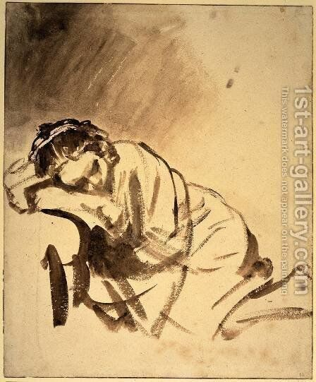 Hendrickje sleeping by Rembrandt - Reproduction Oil Painting