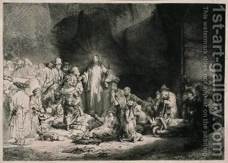 The Hundred Guilder Print by Rembrandt - Reproduction Oil Painting