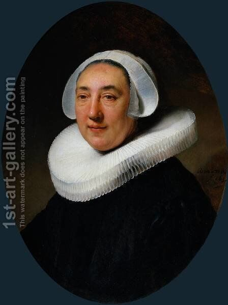 Portrait of Haesje van Cleyburgh by Rembrandt - Reproduction Oil Painting