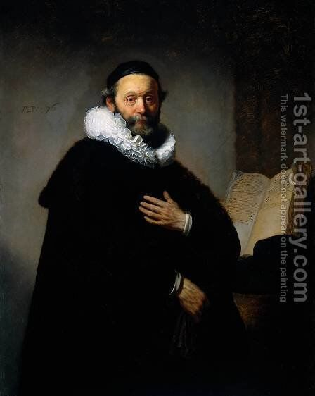 Portrait of Johannes Wtenbogaert (1557-1644), Remonstrant Minister by Rembrandt - Reproduction Oil Painting