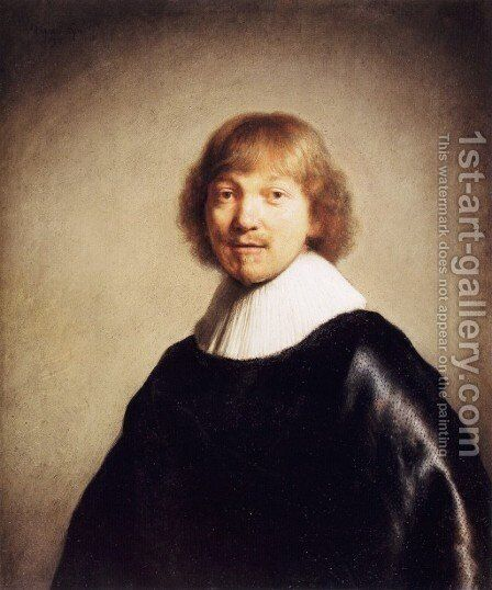 Portrait of Jacob III de Gheyn by Rembrandt - Reproduction Oil Painting