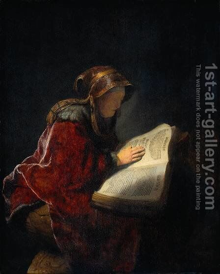 The Prophetess Anna (known as 'Rembrandt's Mother') by Rembrandt - Reproduction Oil Painting