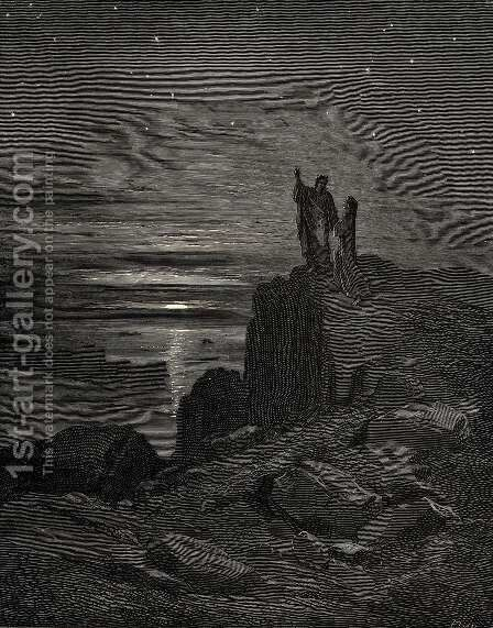The Inferno, Canto 34, lines 133: Thus issuing we again beheld the stars. by Gustave Dore - Reproduction Oil Painting