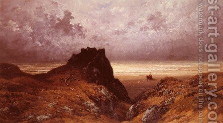 Castle on the Isle of Skye by Gustave Dore - Reproduction Oil Painting