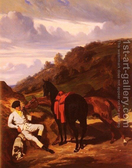 Le Lad Blanc (The White Stable-lad) by Alfred Dedreux - Reproduction Oil Painting