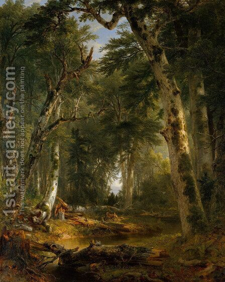 In the Woods by Asher Brown Durand - Reproduction Oil Painting