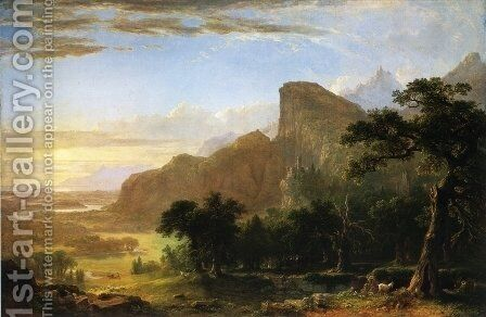 """Landscape--Scene from """"Thanatopsis"""" by Asher Brown Durand - Reproduction Oil Painting"""