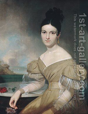 Mrs. Winfield Scott by Asher Brown Durand - Reproduction Oil Painting
