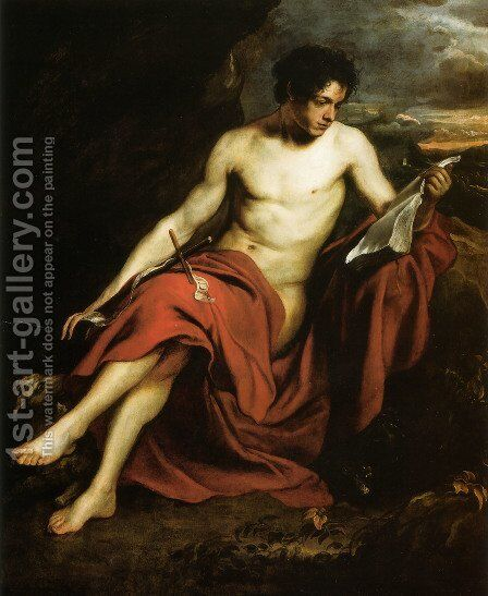 Saint John the Baptist in the Wilderness by Sir Anthony Van Dyck - Reproduction Oil Painting