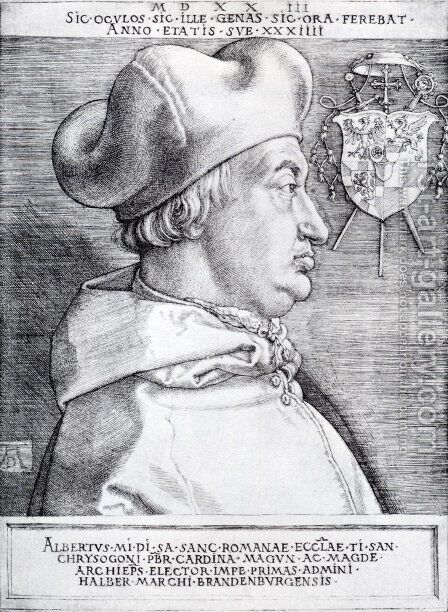Cardinal Albrecht Of Brandenburg (or The Great Cardinal) by Albrecht Durer - Reproduction Oil Painting