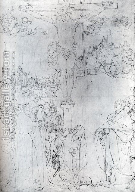 Crucifixion With Many Figures by Albrecht Durer - Reproduction Oil Painting
