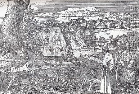 Landscape With Cannon by Albrecht Durer - Reproduction Oil Painting