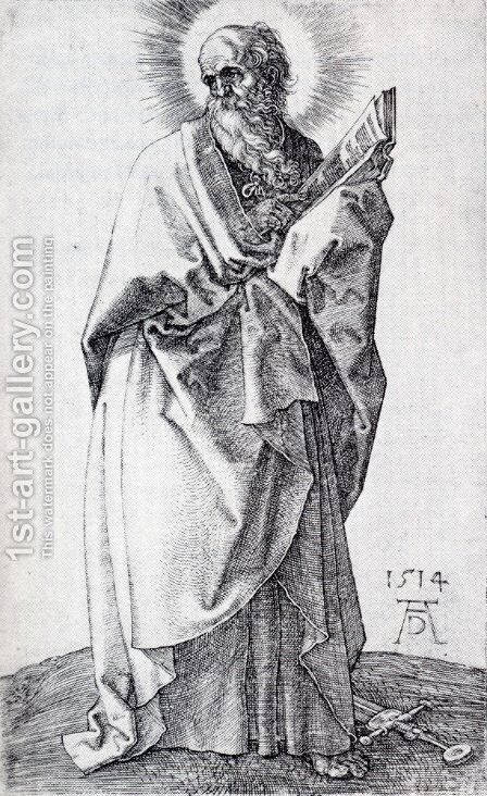 St. Paul (First State) by Albrecht Durer - Reproduction Oil Painting