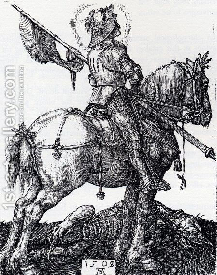 St. George On Horseback by Albrecht Durer - Reproduction Oil Painting
