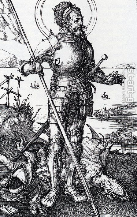St. George On Foot by Albrecht Durer - Reproduction Oil Painting