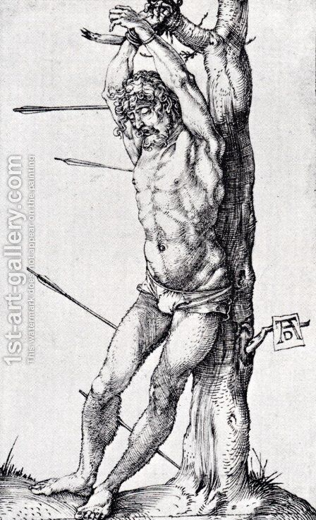 St. Sebastian At The Tree by Albrecht Durer - Reproduction Oil Painting