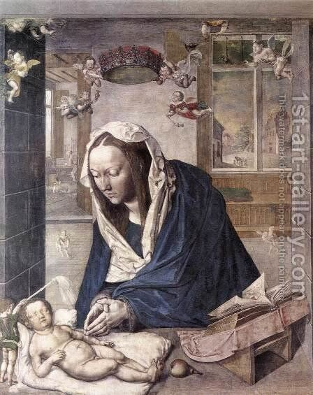 The Dresden Altarpiece (central panel) by Albrecht Durer - Reproduction Oil Painting