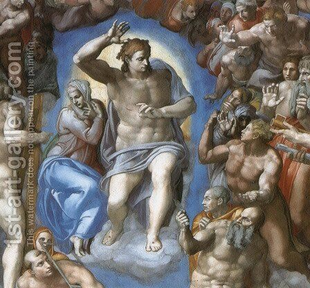 The Last Judgement [detail: 1] by Michelangelo - Reproduction Oil Painting