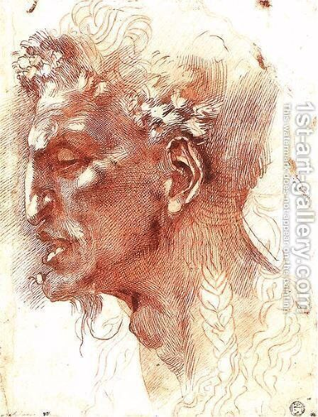 Satyr's Head by Michelangelo - Reproduction Oil Painting