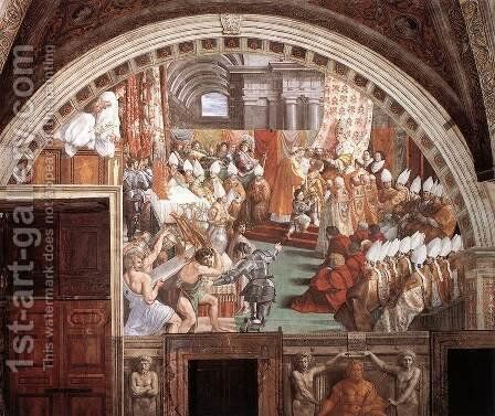The Coronation of Charlemagne by Raphael - Reproduction Oil Painting