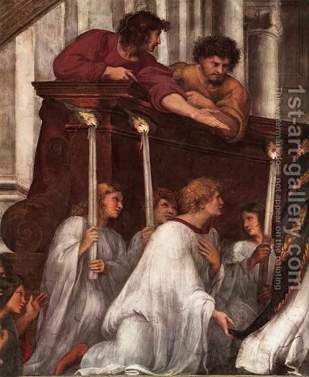 The Mass at Bolsena [detail: 1] by Raphael - Reproduction Oil Painting