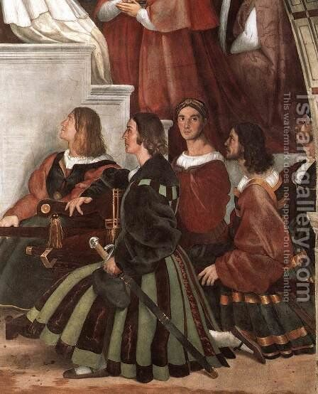 The Mass at Bolsena [detail: 2] by Raphael - Reproduction Oil Painting