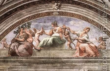 The Cardinal Virtues by Raphael - Reproduction Oil Painting